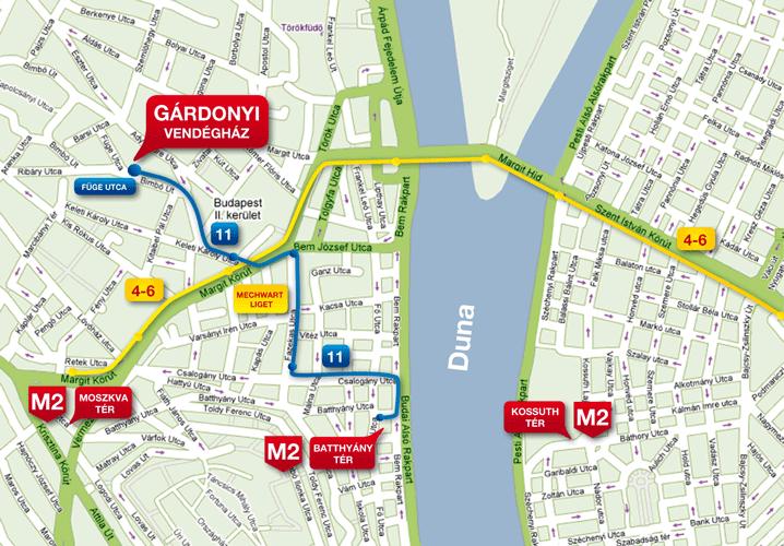 budapest keleti térkép Gárdonyi Vendégház   Térkép budapest keleti térkép